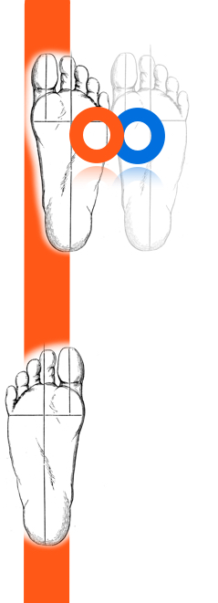 feet one line - looking for ground